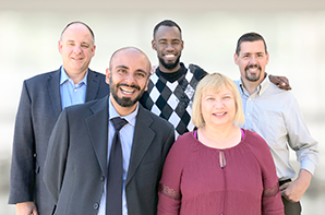 Photo of InnoCare Clinic Consultants Jeff Smith, Dujon Williams, John Parker, Karen Adamo, and Mehdi Salari