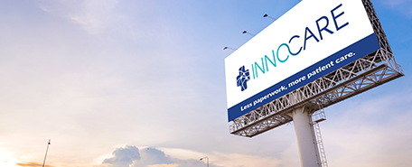 InnoCare logo on a billboard