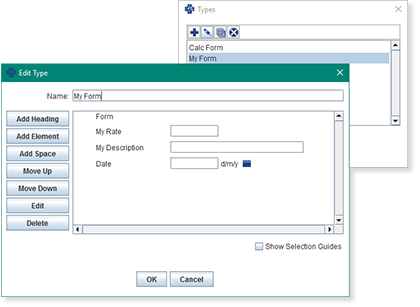Screenshot of InnoCare clinic management software data entry screen